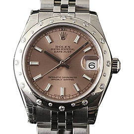 Rolex Datejust 178344 Stainless Steel wDiamonds Salmon Dial Automatic 31mm Womens Watch 2017
