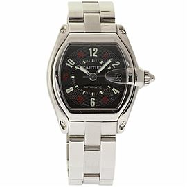 Cartier Roadster W62002V3 Stainless Steel Black Dial Automatic 39mm Mens Watch