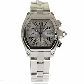 Cartier Roadster W62019X6 Stainless Steel Silver Dial Automatic 43mm Mens Watch