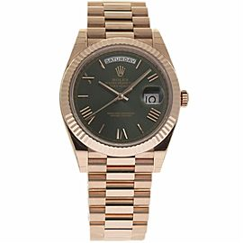 Rolex Day-Date 228235 18K Rose Gold Green Dial Automatic 40mm Mens Watch