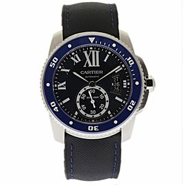 Cartier Calibre Diver WSCA0010 Stainless Steel / Leather & Rubber 42mm Mens Watch