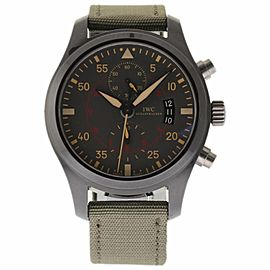 IWC Pilot IW388002 Ceramic/Titanium & Green Strap Automatic 46mm Mens Watch