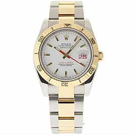 Rolex Datejust 116263 Stainless Steel & 18K Yellow Gold White Dial Automatic 36mm Mens Watch 2006