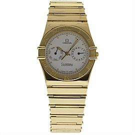 Omega Constellation 1102.30.00 18K Yellow Gold White Dial Quartz 35mm Unisex Watch