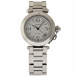 Cartier Pasha W31015M7 Stainless Steel White Dial Automatic 35mm Womens Watch