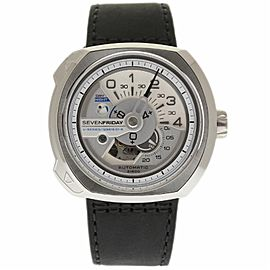 Sevenfriday V-Series V1-01 Stainless Steel & Leather Automatic 49mm Mens Watch