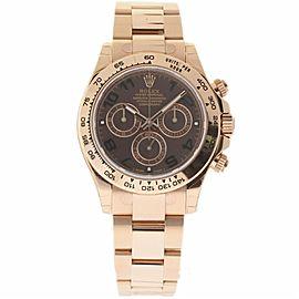 Rolex Daytona 116505 18K Rose Gold & Chocolate Dial 40mm Mens Watch
