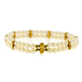 Tiffany & Co. 18K Yellow Gold Pearl Bracelet
