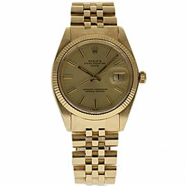 Rolex Date 1503 Yellow Gold Vintage 34mm Unisex Watch