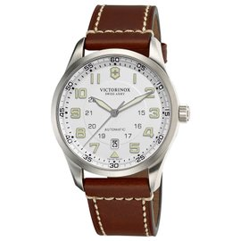 Victorinox Swiss Army 241505 Stainless Steel & Leather Automatic 42mm Mens Watch