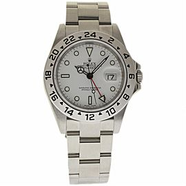 Rolex Explorer II 16570 Stainless Steel White Dial Automatic 40mm Mens Watch