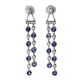 Tiffany & Co. Jazz 950 Platinum Tanzanite & Diamond Double Drop Earrings