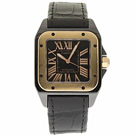 Cartier W2020007 Santos 100 Stainless Steel/Rose Gold & Titanium Automatic 34mm Unisex Watch