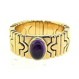 Bulgari Parentesi 18K Yellow Gold with Amethyst Ring