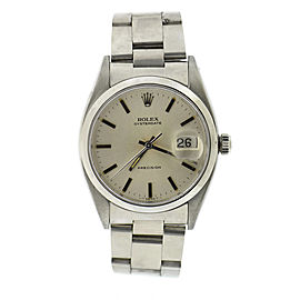 Rolex Oysterdate Precision 6494 Stainless Steel 34mm Vintage Mens Watch