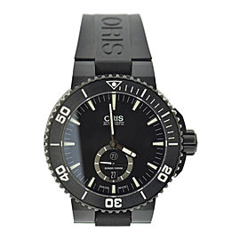 Oris Aquis Ttitan 7674 Black Titanium & Rubber Automatic 46mm Mens Watch