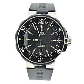 Oris Prodiver Date 7646 Titanium & Rubber Automatic 44mm Mens Watch
