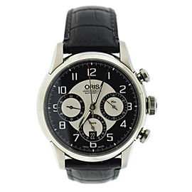 Oris Raid 7603 Stainless Steel & Leather Automatic 43mm Mens Watch 2011