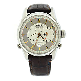 Oris Artelier Worldtimer 7581 Stainless Steel & Leather Automatic 41mm Mens Watch