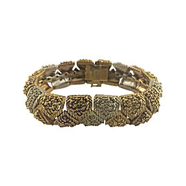 Bulgari 18K Yellow, White and Rose Gold with Exquisite Detail Bracelet
