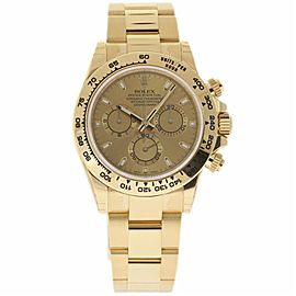 Rolex Daytona 116508 18K Yellow Gold Champagne Dial Automatic 40mm Mens Watch 2017