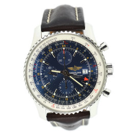 Breitling Navitimer A24322 Stainless Steel & Leather Blue Dial Automatic 46mm Mens Watch
