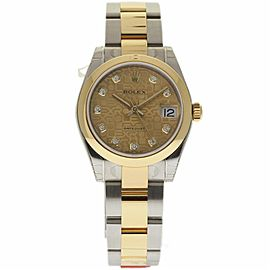 Rolex Datejust 178243 Stainless Steel & 18K Yellow Gold Champagne Dial Automatic 31mm Womens Watch