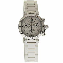Cartier Pasha Seatimer 3129 Stainless Steel & Rubber Quartz 37mm Unisex Watch