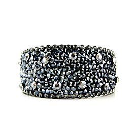 Thorson Hosier Silver Tone Hardware Swarovski Crystal Cuff Bracelet