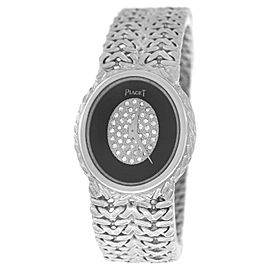 Piaget Oval 18K White Gold Quartz 24mm Womens Watch