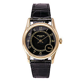 d99f9dd205f Patek Philippe Calatrava 5000J 18K Yellow Gold / Leather Automatic 33mm  Mens Watch