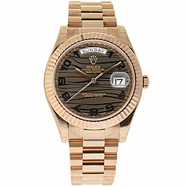 Rolex Day-Date II 218235 18K Rose Gold Automatic 41mm Mens Watch