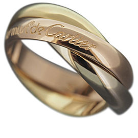 Cartier 18K Yellow, Rose And White Gold Rolling Ring Size 4.75