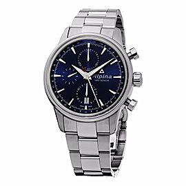 Alpina AL-750N4E6B Stainless Steel Blue Dial Automatic 41.5mm Mens Watch