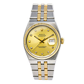 Rolex Datejust 17013 Stainless Steel and 18K Yellow Gold Quartz 36mm Mens Watch