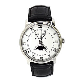 Blancpain Villeret 6654 Stainless Steel & Leather Automatic 40mm Mens Watch