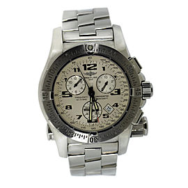 Breitling Emergency Mission A73322 Stainless Steel Quartz 43mm Mens Watch