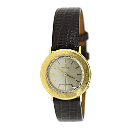 Omega 14K Yellow Gold & Leather Manual Vintage 32mm Unisex Watch