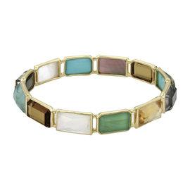Ippolita Rock Candy 18K Yellow Gold with Multi Stone Bangle Bracelet