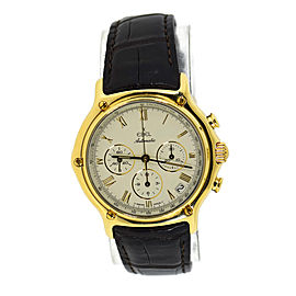 Ebel 1911 8134901 18K Yellow Gold & Leather Automatic 40mm Mens Watch