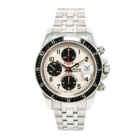 Tudor Tiger Prince Date 79260 Stainless Steel White Dial Automatic 40mm Mens Watch