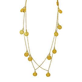14K Yellow Gold Circles Necklace