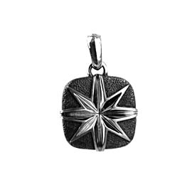 David Yurman 925 Sterling Silver Cushion North Star Pendant