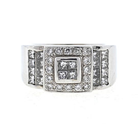 18K White Gold Diamond Ring Size 6.25