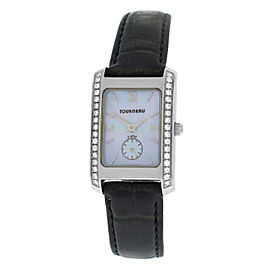Tourneau 1064 Stainless Steel with Diamond Quartz 20mm Womens Watch