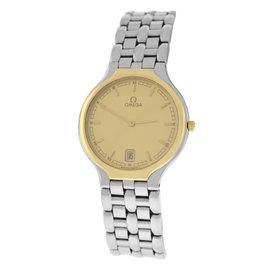 Omega DeVille Stainless Steel & 18K Yellow Gold Quartz 32mm Unisex Watch