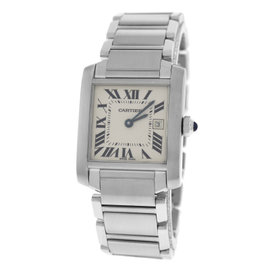 Cartier Tank Francaise 2465 Stainless Steel Quartz 25mm Womens Watch