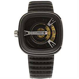 Sevenfriday M-Series M2-01 Calf Leather & Black PVD Stainless Steel Automatic 47mm Mens Watch