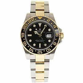 Rolex GMT-Master II 116713 Stainless Steel & 18K Yellow Gold Automatic 40mm Mens Watch