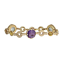 Bulgari Parentesi 18K Rose Gold with Diamond Quartz and Amethyst Bracelet